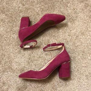 White House Black Market Fuchsia Heels